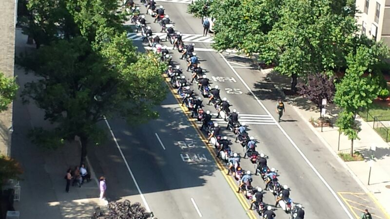 Funeral Procession for Officer Melvin Santiago